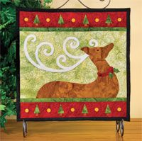 """Reindeer Magic Wallhanging Pattern by Jeri Kelly at KayeWood.com.  Finished project is approx. 14.5"""" square. http://www.kayewood.com/item/Reindeer_Magic_Wallhanging_Pattern/3585 $8.50"""