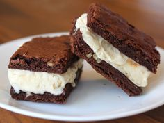 *brownie ice cream sandwiches!