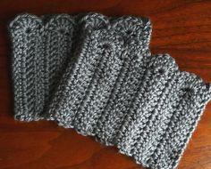Crochet Scalloped edge boot cuffs, using a free pattern on Ravelry.com! I'm making mine in olive green Debbie Bliss Rialto Aran :) Boots Cuffs, Crochet Pattern Free, Boot Cuffs, Domestic Bliss, Bliss Squares, Cuffs Pattern, Crochet Patterns, Crochet Boots, Cuffs Crochet