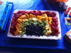 Fruit rainbow, Noah's ark party