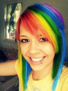Cute Rainbow hair