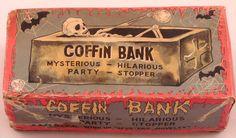Vintage Coffin Bank Yone Japan in Original Box Halloween Skeleton | eBay