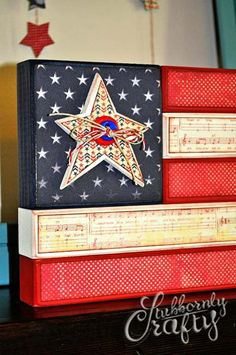 Wood 4th of July flag craft