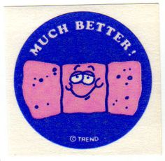80's era Scratch-n-Sniff bandage sticker - you love the smell of medical supplies