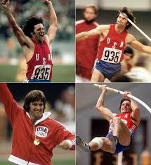 Bruce Jenner, 1976 Montreal Summer Olympic Games Decathlon gold medal winner.  Now known as part of the Kardashian klan.
