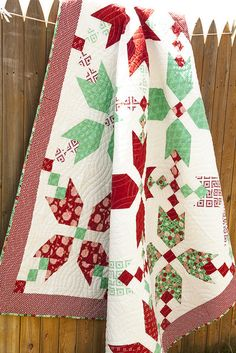 Figgy Pudding quilt pattern by Vanessa Goertzen of Lella Boutique.  Fabric is Into the Woods for Moda.