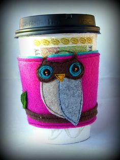 birthday presents, baby boy shower, birthdays, owl cup, baby boys, coffee cups, cookies, branches, coffee cozy