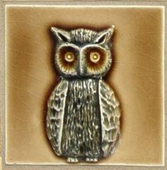Pratt & Larson Owl Tile - Isn't he cute?