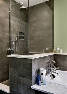 Bath Photos Combo Shower Bath Design, Pictures, Remodel, Decor and Ideas