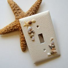 White Beachcomber Single Switch Plate