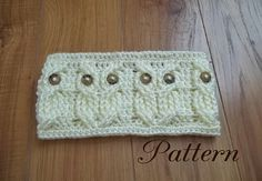 Crochet pattern for owl headband / earwarmer