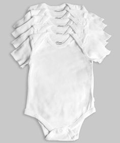 Leveret 5-Pack Short Sleeve Bodysuit 100% Cotton $11.99 - $18.99