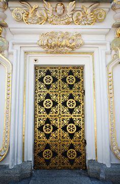 gold heavenly door