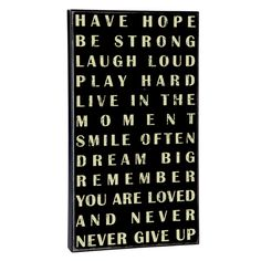 Have Hope, Be Strong Sign