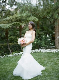 Glamorous garden wedding at the Beverly Hills Hotel.