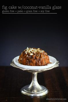 Fig Cake with Coconut Vanilla Glaze - A Healthy Life For Me