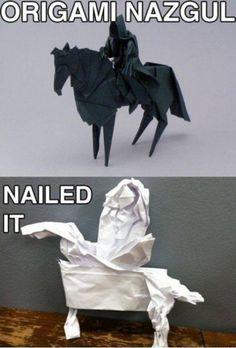 Origami Nazgul... nailed it!