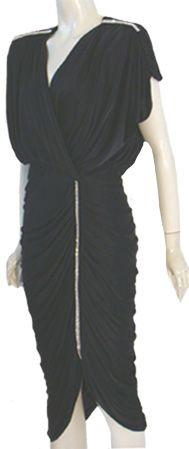 80s Black Vintage Party Dress