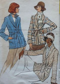 Vintage Vogue Jacket Sewing Pattern