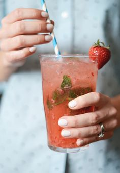 strawberry + ginger mojito.