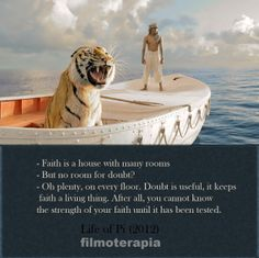 Life of Pi. My child and I absolutely love love this movie. We can watch it over and over.