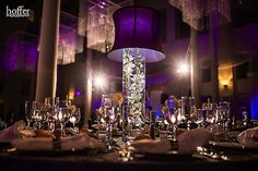 Beautiful Blooms Hoffer Photography Curtis Center Lampshades Submerged Orchids Purple and White Reception
