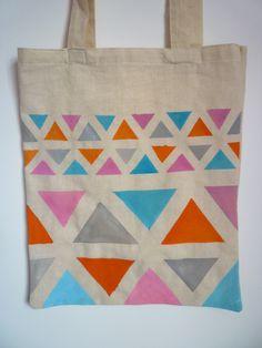 geometric inspiration: patterned bag