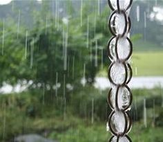 Make runoff into a gorgeous feature in the landscape with a rain chain. The gentle trickling sound they make is lovely.