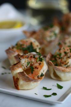 Shrimp scampi wonton bites...recipe