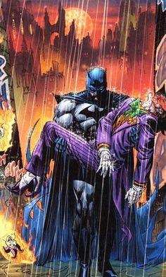 Batman and The Joker by Andy Kubert, Jesse Delperdang,  Dave Stewart
