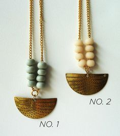 new OOAK brass necklaces