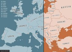Interactive Map of Europe 1914 & 2014