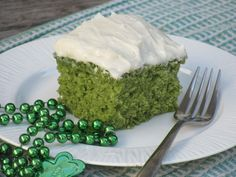 Green snack cake made from rainbow chard - really! No food coloring in here! #stpatricksday #realfood #natural