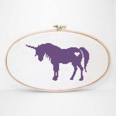 silhouett cross, cross stich, crossstitch, stitch kit, unicorn silhouett, unicorn cross, crosses, cross stitches, unicorns