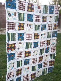 Rag quilt, so cute!