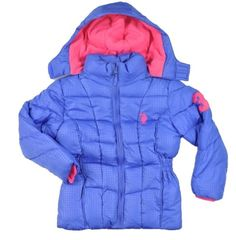 US Polo Assn Toddler Girls Transparent Print Outerwear Coat