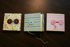 Easy to make pretty covers for post it notes (all sizes) (uses paper or card stock, not fabric)