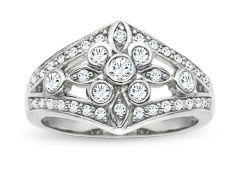 1/2 ct Diamond Ring in 14K White Gold