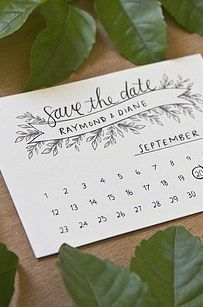 Free simple and elegant Save the Date.