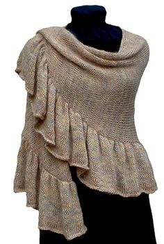 LOVE this...so pretty, knitted with two strands of sock yarn. mindless knitting project!