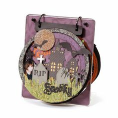 Halloween mini-album made by Tamra Pope for the Close To My Heart Album Retreat #CTMH #MiniAlbum