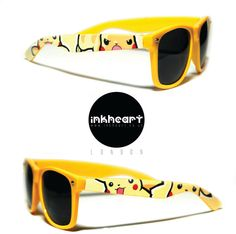 Sunglasses  Pokemon Pikachu  Custom Wayfarers by InkHeartKicks, £27.00