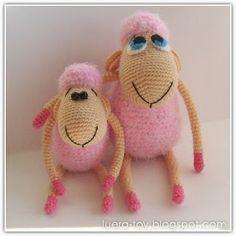 Cute lambs - the free crochet pattern is written in Russian but maybe google translate will help to understand.