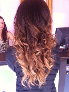 Ombré!!! THE PERFECT BROWN OMBRE. I'd never be brave enough to try this lol