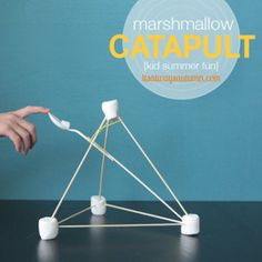 Homemade toys are a great way to occupy your kids. They will love this Fun Marshmallow Catapult! | AllFreeKidsCrafts.com