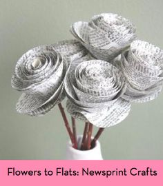 How to make newspaper flowers!