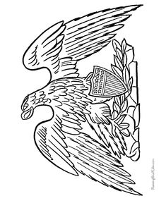 Eagle coloring pages 5
