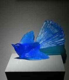 """Lukeke Bird Full Tail (Blue)""     Jacomb/ Rutecki"