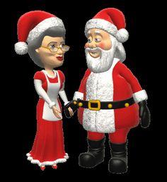 Santa Mrs claus kiss