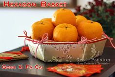 新年快樂! Happy Chinese New Year! A basket full of mandarin oranges symbolizes prosperity !!!